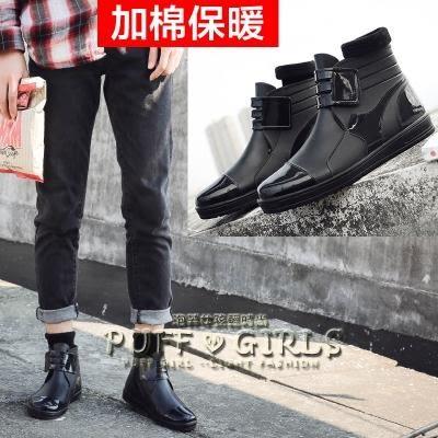 韓版成人雨鞋男短筒時尚雨靴男士秋冬保暖加棉防滑套膠鞋防水鞋男