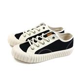 KANGOL 休閒鞋 帆布鞋 女鞋 黑/米色 6052200323 no141