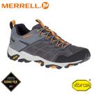 【MERRELL 美國 男 Moab Fst 2 Gore-Tex 健行防水鞋《深灰/橘黃》】84945/運動鞋/登山鞋/低筒鞋