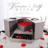 禮品盒ins口紅禮盒包裝盒空盒子大號高檔驚喜精美韓版生日禮物盒 FF3643【男人與流行】