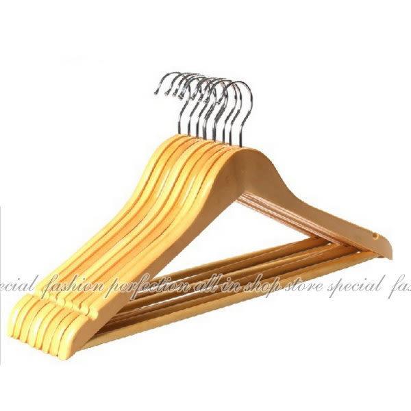 【DZ160】實木衣架 優質木衣架44.5CM 飯店專用衣架 西裝收納衣架 服裝店專用衣架★EZGO商城★