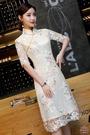 旗袍 改良旗袍連衣裙2020新款春夏日常少女年輕顯瘦中長禮服復古中國風【快速出貨】