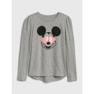 Gap女童GapxDisney迪士尼系列棉質圓領套頭T恤520393-麻灰色