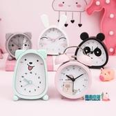鬧鐘 小鬧鐘創意時鐘鬧鈴夜光床頭可愛兒童卡通靜音鐘表擺件學生用簡約