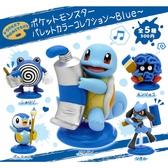 全套5款【日本正版】寶可夢 繪具公仔 P4 藍色篇 扭蛋 轉蛋 神奇寶貝 傑尼龜 波加曼 KITAN - 303909