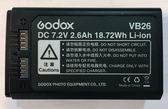 【聖影數位】Godox 神牛 VB26 閃光燈專用鋰電池 For V1