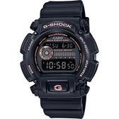 CASIO卡西歐 G-SHOCK 80年代復刻電子錶-黑x玫瑰金 DW-9052GBX-1A4DR / DW-9052GBX-1A4