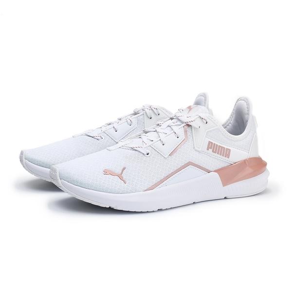 PUMA 慢跑鞋 PLATINUM METALLIC 白 玫瑰粉 透氣 運動 訓練鞋 女 (布魯克林) 19377302
