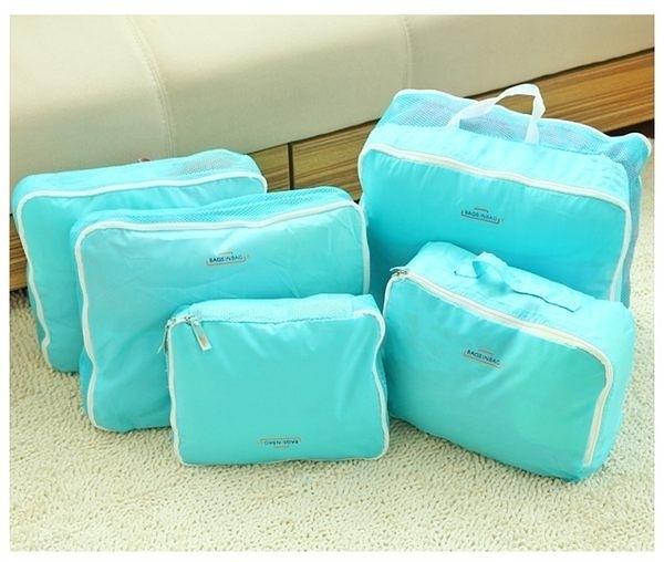 旅行五件組 旅行收納袋 行李箱壓縮袋旅行箱 包中包旅用收納袋 收納行李袋【N001】慢思行