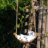 花園動物-戶外花園圣誕老人裝飾品 園藝動物擺件 樹脂工藝擺設狗狗青蛙吊飾  YYS 花間公主