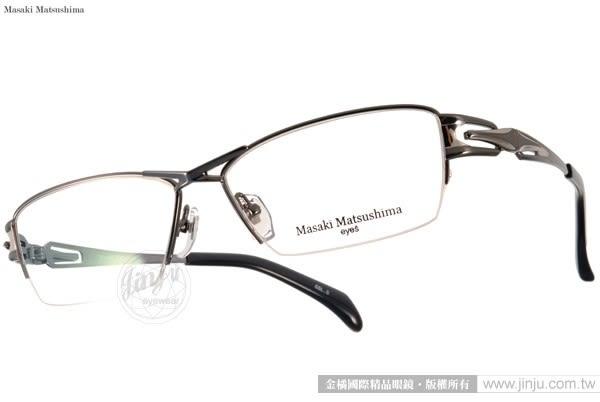 Masaki Matsushima 眼鏡 MF1185 C05 (槍銀) β 鈦金屬系列 質感半框 #金橘眼鏡