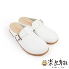 【樂樂童鞋】台灣製質感單扣休閒鞋-白色 C077 - 現貨 台灣製 女鞋 休閒鞋 女童鞋 大童鞋 皮鞋 拖鞋