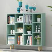簡易書架簡約現代置物架落地桌上柜子學生創意格子柜自由組合書柜 英雄聯盟igo