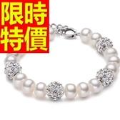 珍珠手鍊 單顆9-10mm-生日母親節禮物風靡時尚女性飾品53pe32【巴黎精品】