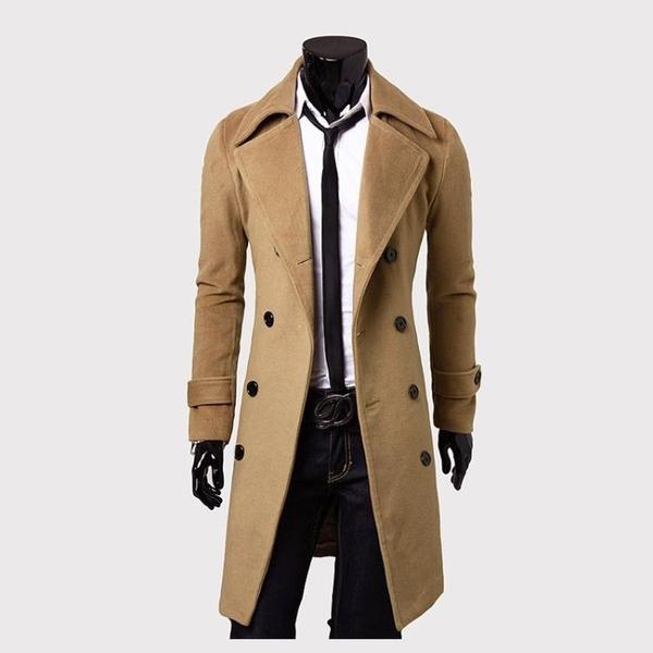 西裝外套春秋冬裝男士羊毛毛呢子大衣男中長款外套呢子大衣妮子風衣中青年 小山好物