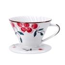 金時代書香咖啡 V01 日式手繪陶瓷咖啡濾器 - 紅果花 HG5548C
