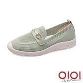 休閒鞋 馬銜釦飛織輕量便鞋(綠) *0101shoes【18-W03gen】【現+預】