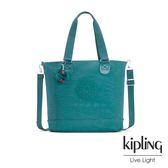 Kipling 靜謐藍綠色手提側背包-SHOPPER