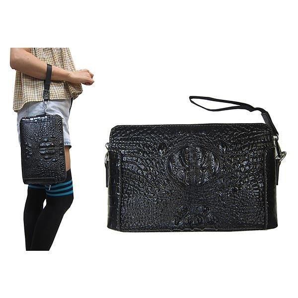 【南紡購物中心】~雪黛屋~TONE WALKER 手拿包小容量二層主袋分類包隨身物品夾包進口防水防刮皮革
