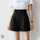高腰短褲女夏季新款韓版寬鬆顯瘦a字闊腿褲