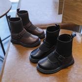 女童靴子2020秋冬新款時尚襪子靴女孩單靴兒童皮靴公主加絨短靴潮 童趣屋