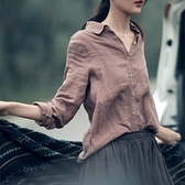 2021春季新款懷舊襯衫女打底休閒長袖寬鬆文藝范棉麻襯衣加大碼 快意購物網