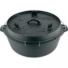 【速捷戶外露營】PETROMAX FT6-T DUTCH OVEN 鑄鐵荷蘭鍋12吋(平底)