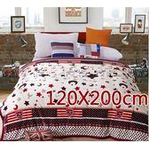 雲貂絨毛毯浪漫風情法蘭絨毛毯 120x200cm多款花色 四季空調毯【微笑城堡】