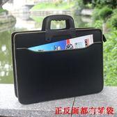 新款手提公文包男包商務辦公包潮流包工作包文件袋公事包LZ2762【野之旅】