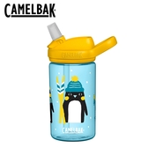 【愛吾兒2020冬季限量款】美國 CAMELBAK eddy+兒童吸管運動水瓶 400ml 企鵝滑雪隊 (CB2452405141)