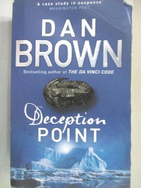 【書寶二手書T1/原文小說_A7R】Deception Point_Dan Brown