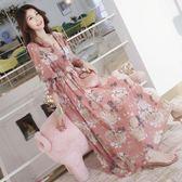 夏季新款時尚外出哺乳衣服產后寬松顯瘦中長款喂奶衣哺乳連衣裙潮