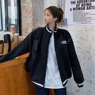 【GZ24】夾克外套 拉鏈衛衣女加絨加厚寬鬆刺繡開衫外套潮