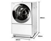 《Panasonic 國際牌》10.5公斤 洗脫烘滾筒洗衣機 NA-D106X2WTW(晶燦白)
