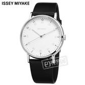 ISSEY MIYAKE 三宅一生 / VJ21-0360Z.NYAJ001Y /  F系列 極致完美 數字時標 日本製造 真皮手錶 白x黑 39mm