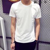 短袖T恤圓領純色體恤打底衫韓 SDN-4147