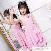 女童夏裝2021新款連身裙雪紡中大童韓版公主裙12歲女孩洋氣裙子潮 夏季新品