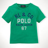 POLO Ralph Lauren T恤 短袖 上衣 Logo 綠色 9M 12M