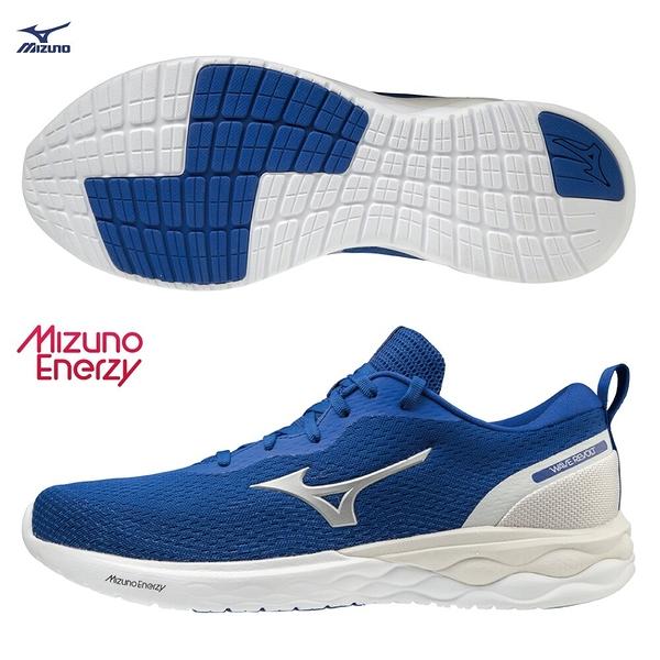 MIZUNO WAVE REVOLT 男鞋 慢跑 路跑 ENERZY中底 回彈 耐磨 藍【運動世界】J1GC208105