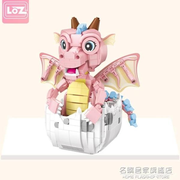 小顆粒積木 寶貝龍恐龍迷你益智拼裝組裝玩具男孩兒童女孩【名購新品】