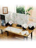 棉麻布藝液晶電腦防塵罩顯示器蓋巾臺式電腦套蓋布27寸22 23 24寸聖誕交換禮物