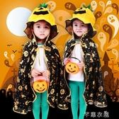 萬圣節兒童服裝披風巫婆精裝金南瓜披肩女巫披風南瓜桶南瓜帽燈籠 交換禮物