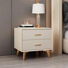 床頭櫃 簡約現代床頭櫃輕奢北歐風皮質ins簡易免安裝迷你實木窄儲物櫃