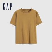 Gap男童 活力亮色透氣短袖T恤 682081-棕色
