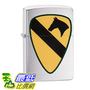 [美國直購] Zippo US Army 1st Calvary Brushed Chrome Pocket Lighter 打火機