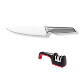 (組)爵仕德國鋼西式廚刀+兩段式磨刀器