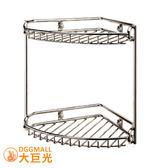 【大巨光】不鏽鋼圓線雙層轉角架/牆角架/廚衛兩用(5722)