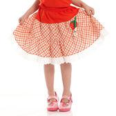 【愛的世界】純棉鬆緊帶草莓格紋蕾絲短裙/6歲-台灣製- ★春夏下著