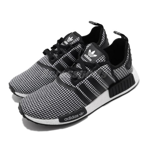 【海外限定】adidas 休閒鞋 NMD_R1 黑 白 男鞋 女鞋 千鳥格紋 襪套式 運動鞋 【ACS】 FV5438