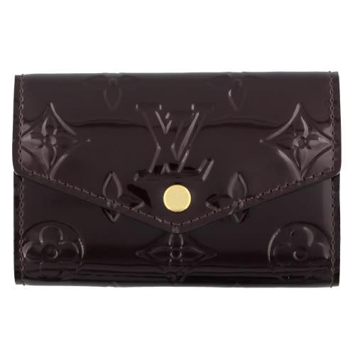 Louis Vuitton LV M90902 Vernis皮革經典壓花6孔鑰匙包.紫紅 全新 預購【茱麗葉精品】